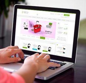 طراحی گرافیک سایت فروشگاهی ایران زمین